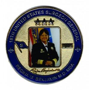 Challenge Coin Military coin Regina Benjamin